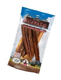 Loving Pets Pure Buffalo 6-Inch Bully Stick Dog Treat, 6-