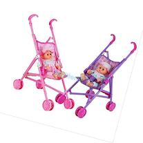 Kids Buggy Stroller Foldable 4 Wheeler Pushchair Baby Girls