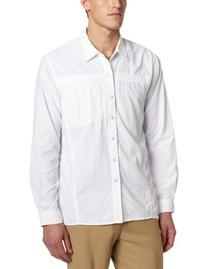 Exofficio Men's Bugs Away Breez'r Long Sleeve Shirt, White,