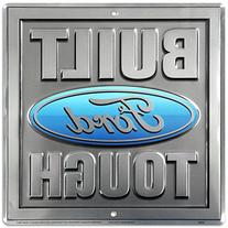 Build Ford Tough Truck Square Tin Sign 12 x 12in