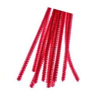 Bulk 12 Inch Long Bright Pink Chenille Stems or Fuzzy Sticks
