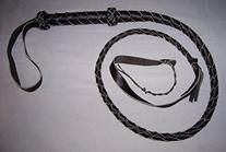 4 Foot 4 Plait Black Real Leather BULLWHIP BULL WHIPS