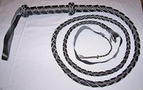 6 Foot 4 Plait BLACK Bullwhip Real Leather BULL WHIPS