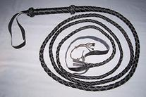 12 Foot 4 Plait BLACK Real Leather BULLWHIP bull whips