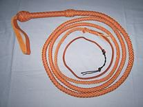 10 Foot 10 Plait Tan Real Leather BULLWHIP BULL WHIPS