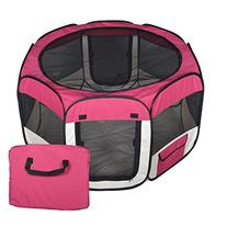 New Small Burgundy Pet Dog Cat Tent Playpen Exercise Play