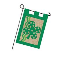 Burlap St. Patricks Day Garden Flag