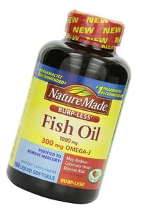 Nature Made Burp-less Fish Oil, 1000 Mg, 300 mg Omega-3, 150