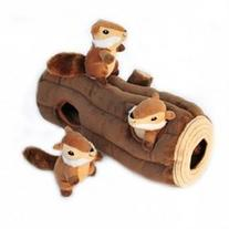 ZippyPaws X-Large Burrow Log and Chipmunks Squeaky Hide and