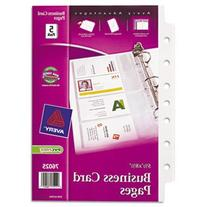 Avery Business Card Binder Pages, 2 X 3 1/2, 8 Cards/Sheet,