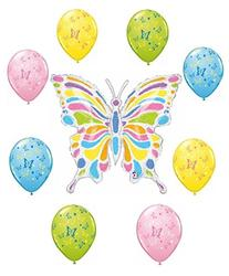 Butterfly Balloon Decoration Kit by Party Supplies