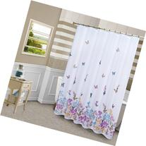 United Curtain Butterfly Shower Curtain, 70 by 72-Inch,