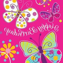 Creative Converting Butterfly Sparkle Happy Birthday Lunch