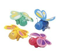BUTTERFLY Wind Up Toy - Wings Flap As It Rolls
