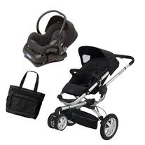 Quinny BUZ3TRVSTM1 Buzz 3 Travel System in Black with Diaper