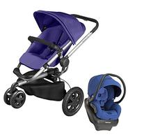 Quinny Buzz Xtra Mico AP Travel System, Purple Pace - Blue