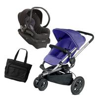Quinny Buzz Xtra Travel System in Purple Black with Diaper
