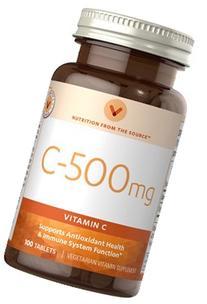 C-500 Vitamin C 500 mg 100 Tablets VITAMIN WORLD