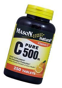 C 500MG PURE ASCORBIC ACID - 250 Tablets