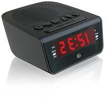 GPX C224B Dual Alarm Clock AM/FM Radio with Red LED Display