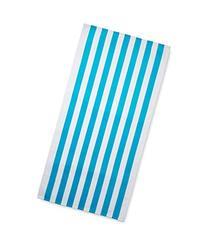 Cabana stripes turquoise color velour brazilian beach towel