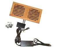 CabCool1202 Dual 120mm Fan Cooler Kit with Custom Wood Grill