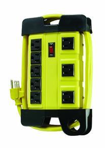 Coleman Cable 04655 8-Outlet Power Strip, Heavy-Duty Design