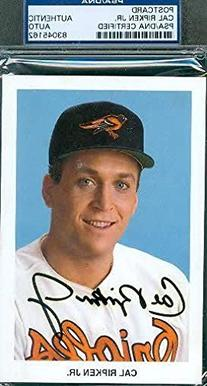 Cal Ripken Jr Autograph Team Postcard Signed Psa/dna