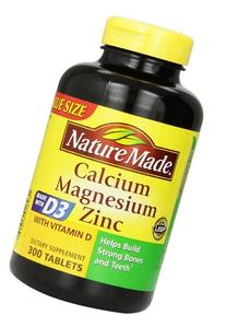 Nature Made Calcium Magnesium Zinc Tablets with Vitamin D,