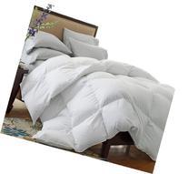 LUXURIOUS KING Size White Goose Down Alternative Comforter