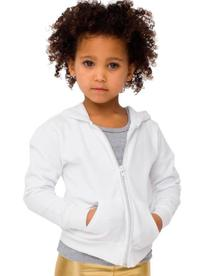 American Apparel Kids' California Fleece Zip Hoody - White
