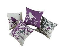 Euphoria CaliTime Throw Pillows Covers Vintage Birds
