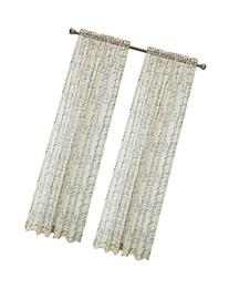 """CaliTime Window Curtains Panels 50"""" X 84"""", French Script"""