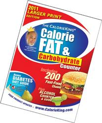 CalorieKing Calorie, Fat and Carbohydrate Counter 2011