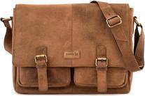 LEABAGS Cambridge genuine buffalo leather messenger bag in