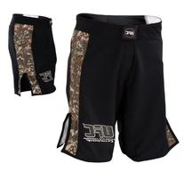 UFC Digital Camo Fight Shorts-Black/Army Green - 32