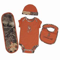OFFICIALLY LICENSED BROWNING BABY TEXAS ORANGE 4 PIECE CAMO