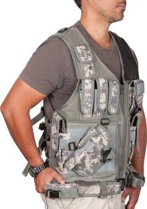 fbae77125196b Digital Camo Adjustable Tactical Military and Hunting Vest By Modern Warrior