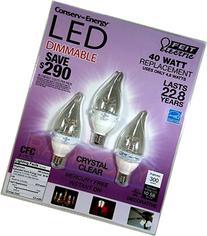 Feit 4.8 Watt = 40 Watts LED Candelabra Light Bulbs 3-Pack 3000K