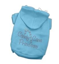 Candy Cane Princess Dog Hoodie Baby Blue/Extra Small
