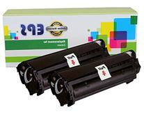 2 Pack - EPS Compatible Replacement Toner Cartridges for