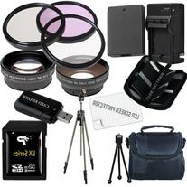 Canon T3 and T5 Accessory Saver Kit (58mm Wide Angle Lens +