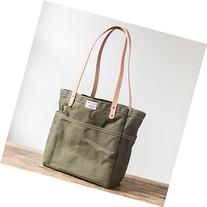 Canvas Campus Tote in Olive Canvas