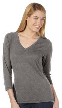 Missy 3/4 Sleeve V-Neck T-Shirt