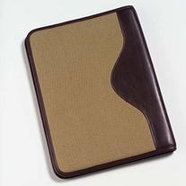 Clava Canvas Padfolio with Leather Trim