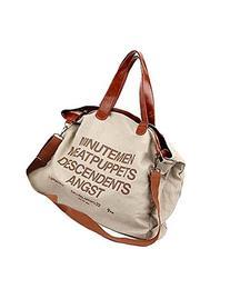 Sanwood Women's Canvas Letter Tote Messenger Shoulder Bag