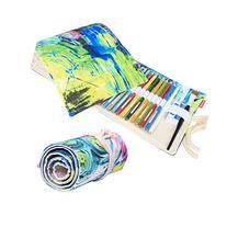 Damero Design Canvas Wrap Holder for 72 Colored Pencil, Roll
