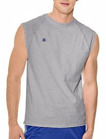 Champion Men's Jersey Muscle T-Shirt, Black,X-Large