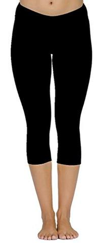 4How Women's Capri Tights Pants Fitness Leggings Grey X-