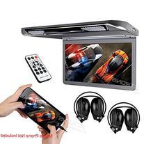"""XTRONS® 13.3"""" HD 1080P Video Car MPV Roof Flip Down Slim"""